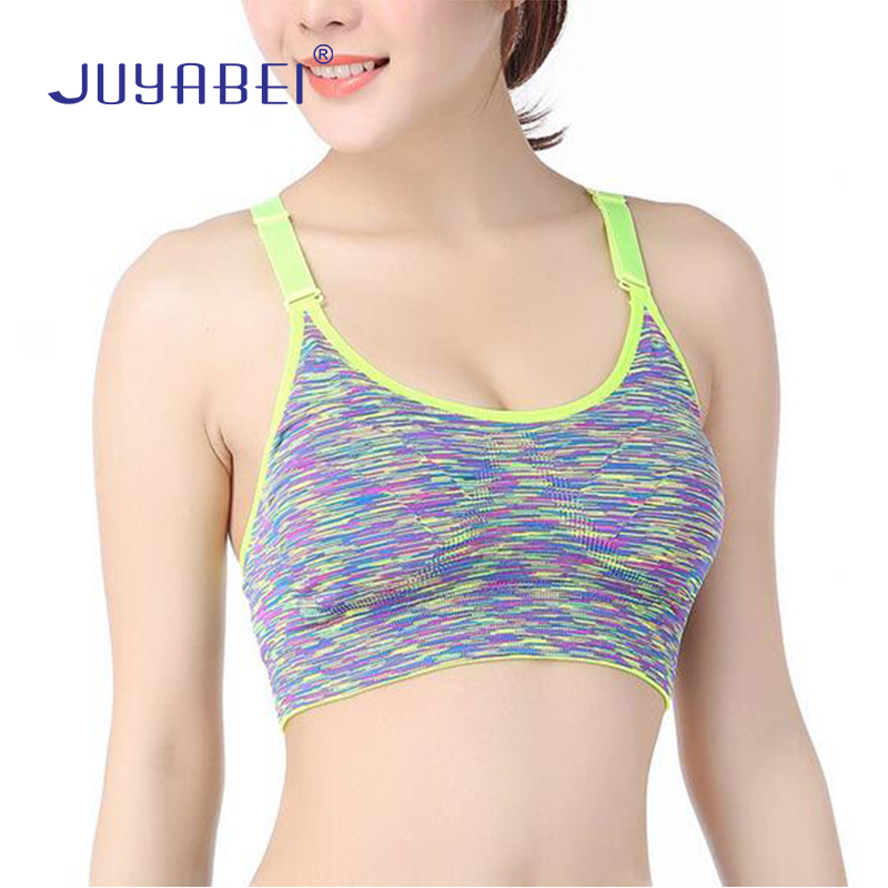 8ed0d52977436 JUYABEI Women Push Up Sports Bra Adjustable Yoga Hot Girls Breathable  Shockproof Underwear Vest Fitness Running Padded Wirefree-in Sports Bras  from Sports ...