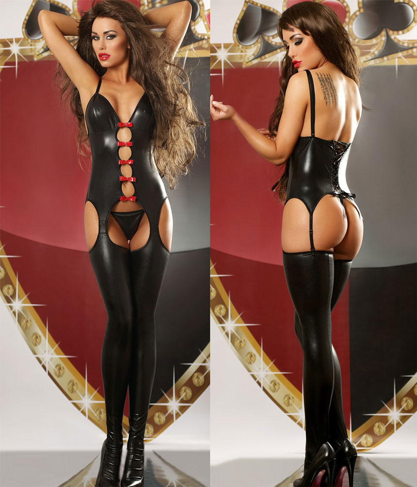 Sexy pvc catsuit
