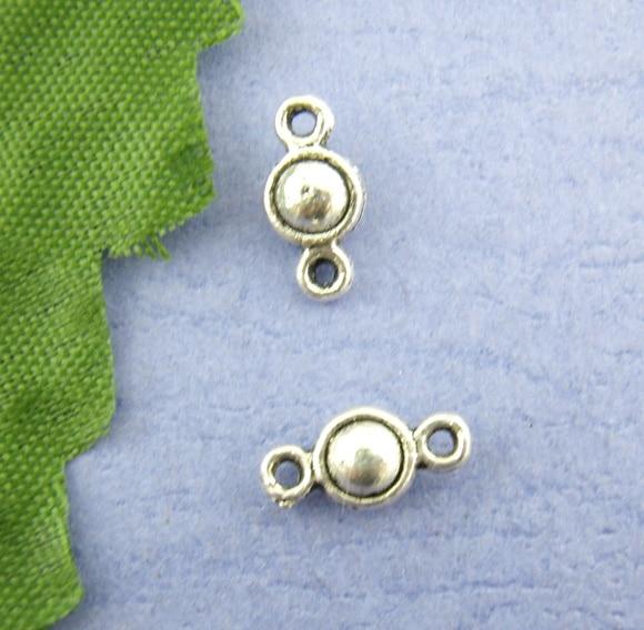 Zinc Metal Alloy Connectors Findings Round Antique Silver Color 5mm( 2/8