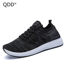 New Runner! 2017 Trendy Men Running Shoes Lightweight Sports Fly Weaving Running Sneakers For Men, High Quality Men Yeezi Boosts
