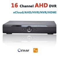달리 DVR 16 채널 보안 카메라 DVR 레코더 네트워크 하이브리드 채널 CCTV Dvr의