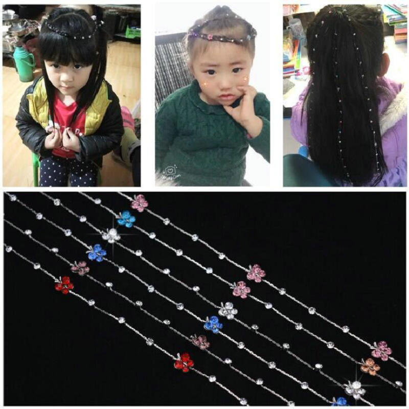Image 5 - 2019 New Girl Hair Extension Rhinestone Tool Glitter braid hairpin Bridal Wedding  Hair Accessories-in Braiders from Beauty & Health