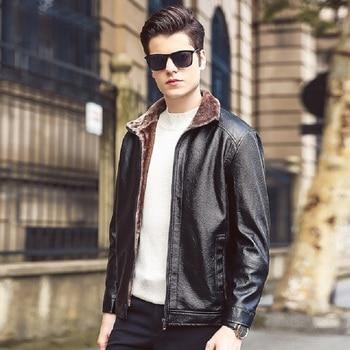 New fashion mens leather jackets coats brand motorcycle leather jacket men leather jacket men's jaqueta de couro masculina M-4XL