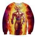 ISTider Hot Anime Dragon Ball Z Super Saiyan Goku 3D Printed Galaxy Hoodies Pullovers Cartoon Character Sweatshirt Women/Men