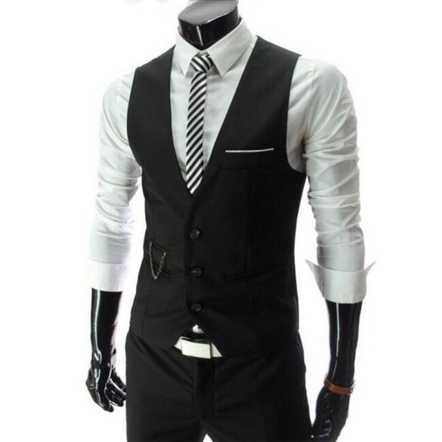 Most Popular Fashion men's clothing clothes fashion men slim V-neck vest men's vest casual slim mens vest for men