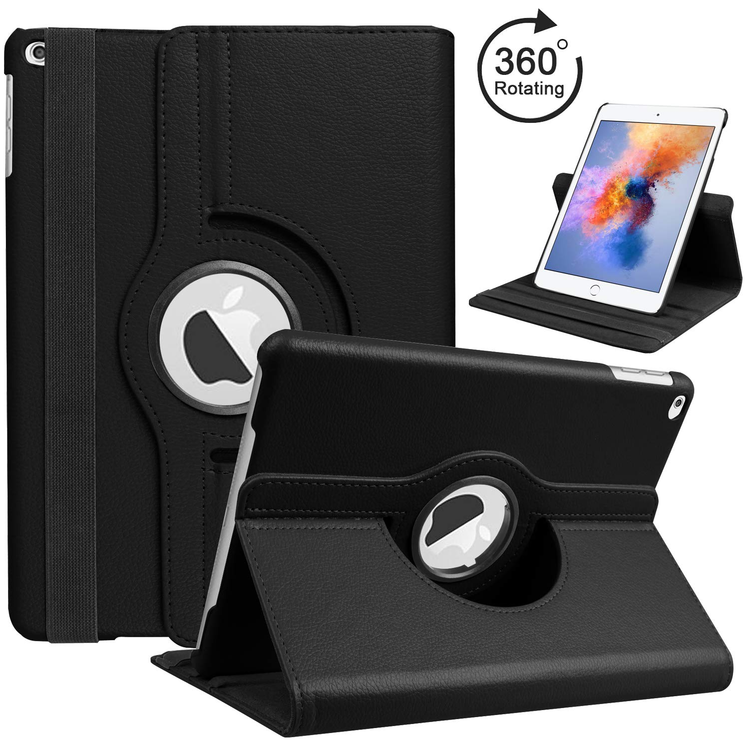 For Case Apple iPad 2 iPad 3 iPad 4 PU Leather Smart Stand Flip Case Cover 360 Rotating Screen Protector Film Stylus Pen GiftsFor Case Apple iPad 2 iPad 3 iPad 4 PU Leather Smart Stand Flip Case Cover 360 Rotating Screen Protector Film Stylus Pen Gifts