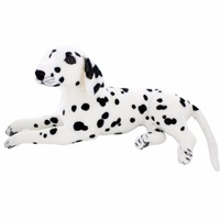 JESONN Giant Realistic Stuffed Animals Dog Plush Toys Dalmatian Dogs for Children's Birthday Gifts