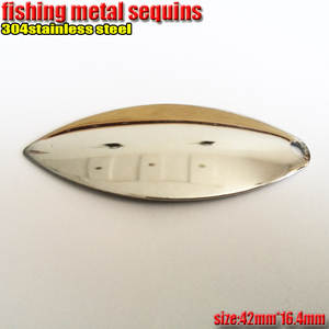 Lures Fishing-Spoon Sequins Metal 42mm--Width16.4mm Number:30pcs/Lot 304stainless-Steel