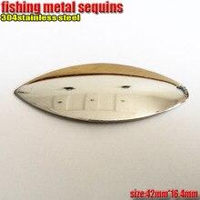 2017new produit pêche cuillère leurres métal paillettes longueur 42mm * width16.4mm numéro: 30 pcs/lot 304 acier inoxydable