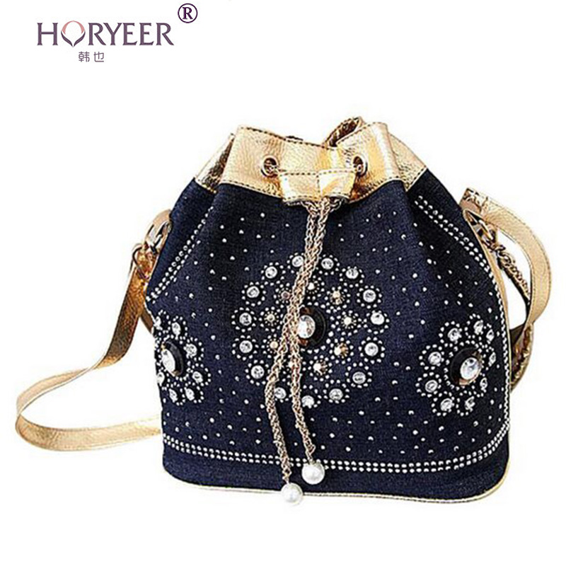horyeer sac a main femme de marque luxe cuir 2016 handbags denim bolsas femininas messenger bags. Black Bedroom Furniture Sets. Home Design Ideas