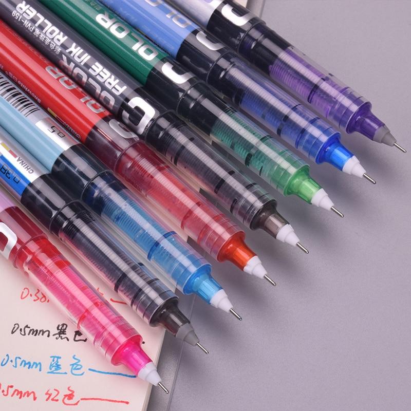 Baixue Color Student Gel Pen Writting Pens Canetas Material Escolar Kawaii Staitonery Paperlaria School Supplies 0.38mm