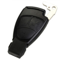New Replacement 3 Buttons Smart Car Key Case Shell With Battery Holder Clip For Mercedes Benz