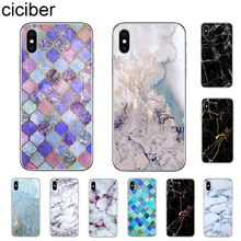ciciber Fashion Marble Phone Cases For iPhone 7 8 6 6s Plus X XR XS MAX 5S SE Soft TPU Cover For iPhone 11 Pro Max Coque Capinha ciciber retro style flower skull phone case for iphone 7 8 6 6s plus x xr xs max 5s soft tpu cover for iphone 11 pro max coque