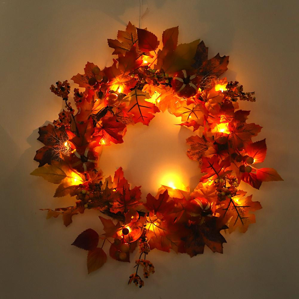 Christmas Decorations In Shopping Malls: 2018 New Arrival Autumn Christmas Wreath Home Decoration