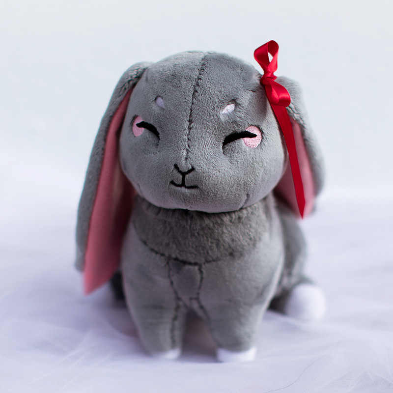 جديد مو داو زو شي القطيفة دمية مؤسس السكري وي Wuxian LanWangji الحيوانات الأليفة أرنب ألعاب من نسيج مخملي تأثيري أنيمي حولها