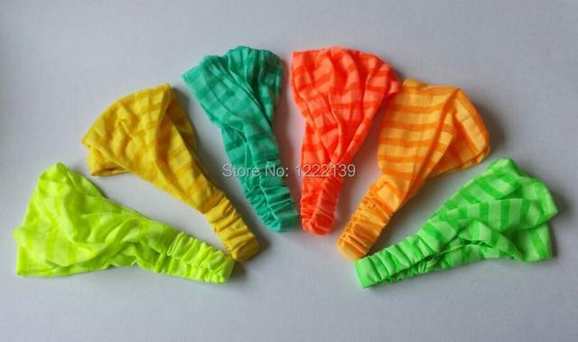 Fashion Women Fluorescence Neon Color 3 IN 1 Elastic Back Headband Bandana  Headwrap Hair Band 6a5096b5ea4