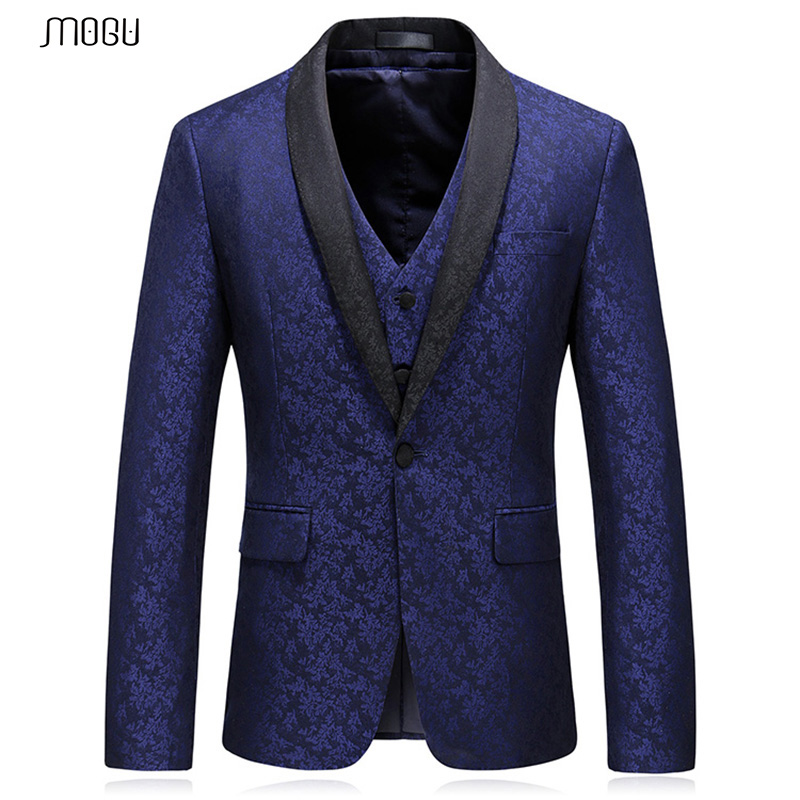 MOGU Mans Collo a Scialle Blazer 2018 di Nuovo Modo Ha Stampato Fitness Prom Cappotti Alla Moda di Alta Qualità Blazer Masculino Formato Asiatico 5XL