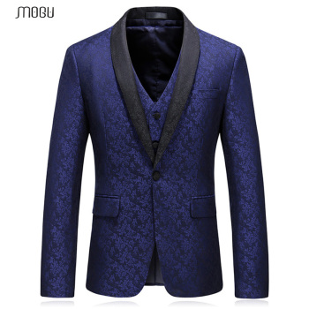 MOGU Mans Shawl Collar Blazers 2018 New Fashion Printed Fitness Prom Coats Stylish High Quality Blazers Masculino Asian Size 5XL