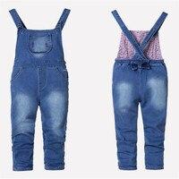 Baby Girl And Boy Denim Overalls Spring Autumn Children Jeans Kids Bib Pants