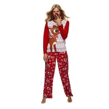 Cute Christmas Deer Printed Family Matching Pajamas