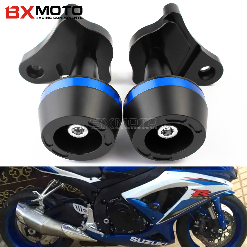Motorcycle Accessories Cnc Frame Sliders Falling Protection Crash Pad Sides for Suzuki GSX R GSXR 600 750 R K6/K8 GSXR600/750 for suzuki gsx r 600 750 2006 2010 motorcycle accessories engine cover frame slider crash protector gsxr600 gsxr750