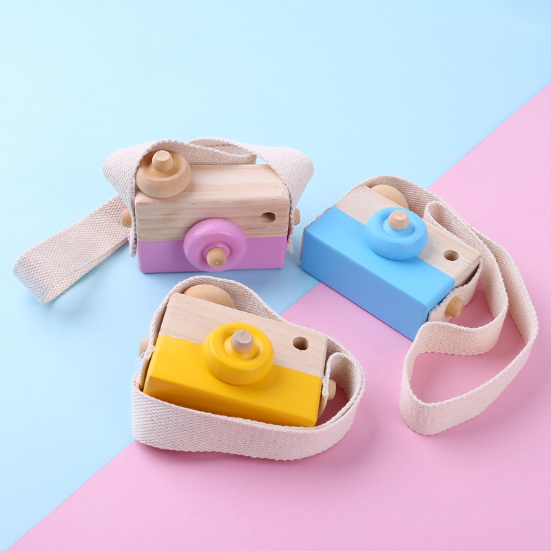 Wooden Toy Camera Kids