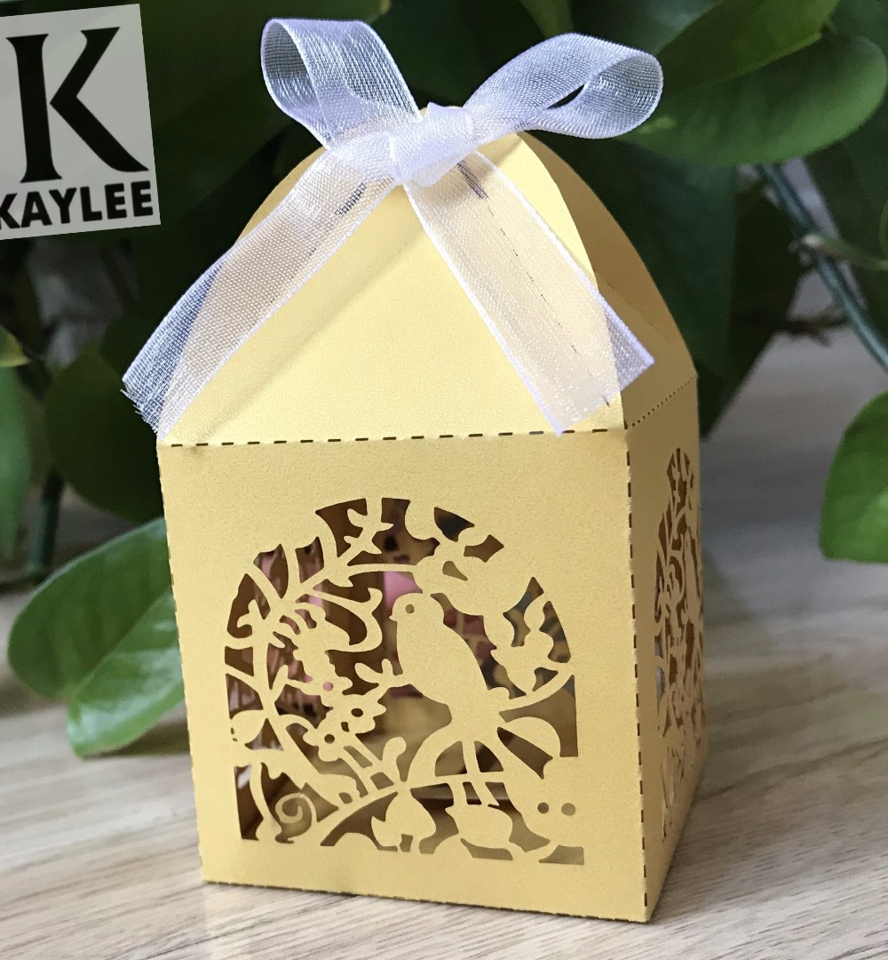 Cute bird baby shower party gift box100pcs handmade wedding favor cute bird baby shower party gift box100pcs handmade wedding favor boxeschocolate packaging box for valentines day party favor in party favors from home solutioingenieria Choice Image
