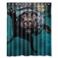 Popular funny lovely Labrador dog Bathroom Shower Curtain, Shower Rings Included 100% Polyester Waterproof 60 x 72