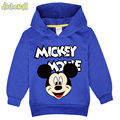 Baby Cartoon Mickey Clothes Boy Girl Lovely Hooded Costume Children Hoodies 3T-7T Kids Long Sleeve Polyester Sweatshirt FCY009