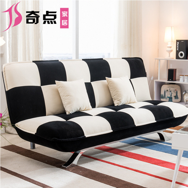 Multifunctional Fabric Sofa Bed Small Apartment Simple Single Folding Furniture Factory Direct