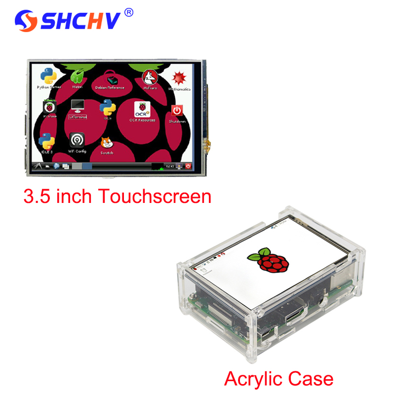 2016 Raspberry Pi 2 3 5 Inch LED Display Screen Transparent Acrylic Case Enclosure Box For