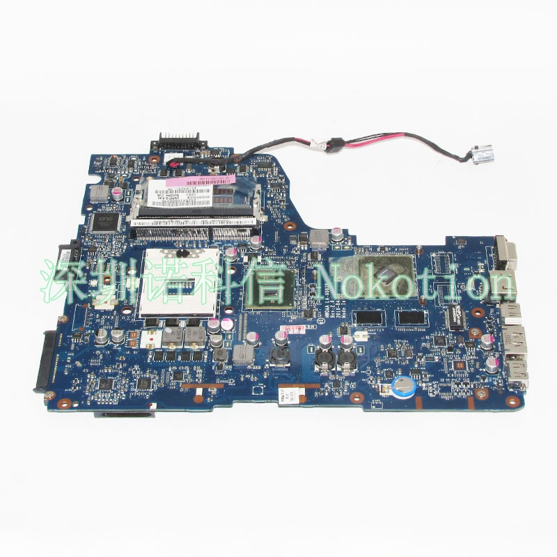 NOKOTION Laptop Motherboard For Toshiba Satellite A660 A665 NWQAA LA-6062P K000109850 HM55 GT310M Graphics DDR3 Main board works nokotion laptop motherboard for dell vostro 3500 cn 0w79x4 0w79x4 w79x4 main board hm57 ddr3 geforce gt310m discrete graphics