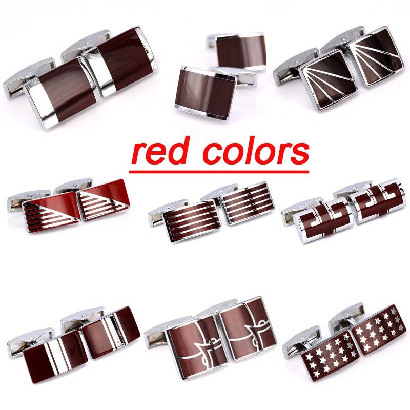 Veshmbathje Shitje Nxehtë me cilësi të lartë HYX Vulosje Gemelos Mens Red Desinger Brand Luksoze me porosi Enamel Lidhje Transporti falas