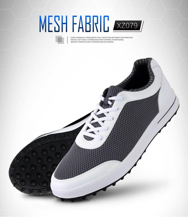 Новинка 2017 года PGM Гольф Мужской Ультра-легкие дышащие парусиновые туфли, Бесплатная доставка