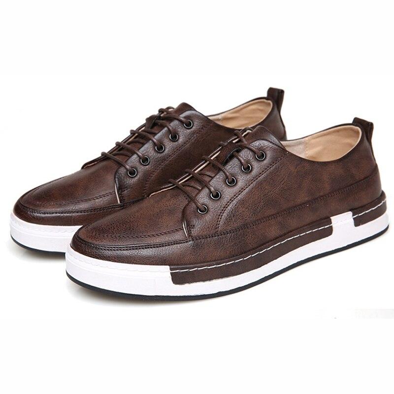 Prix pour Nouvelle Arrivée Hommes de Planche À Roulettes Chaussures Hommes Sport En Cuir Véritable Sneakers Planche À Roulettes Hommes Chaussures Étudiants Chaussures