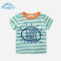 Kids T-shirt Dorsill 2017 Summer New Fashion Striped Tees For Baby Girl Cotton 2Y-9Y Cool Boy Top&Tee Children Clothes