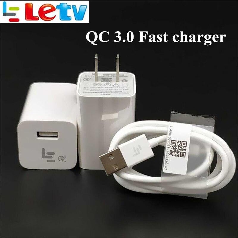 Оригинальный LeTV быстро Зарядное устройство <font><b>LeEco</b></font> Le S3 x626 Pro 3 смартфон QC 3.0 Quick Charge адаптер питания и USB 3.1 тип C кабель для передачи данных