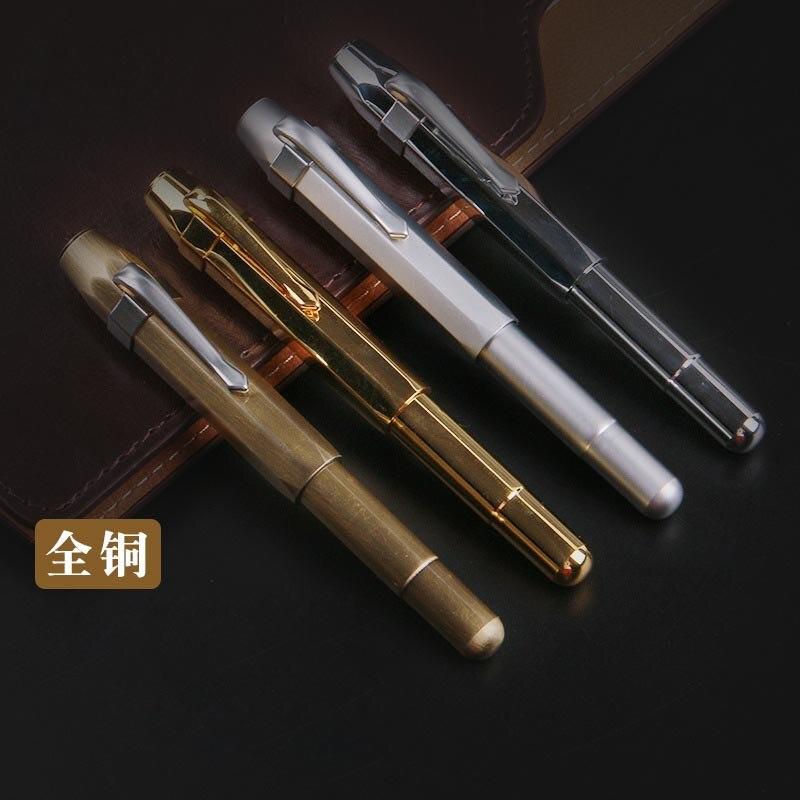 Haute qualité Vintage laiton Stylo plume encre Stylo plume métal Stylo plume papeterie Caneta tinteiro Vulpen Penna stilografa 03876