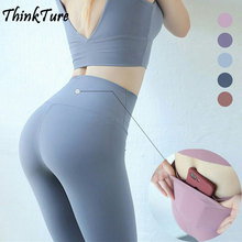 High Waist Nylon Seamless Leggings Yoga Pants With Pocket Gym Sport Women Fitness Tights Female Sports Sportswear