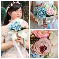 Beautiful Artificial Flowers Wedding Bouquet Bridal Bridesmaid Bouquets De Mariage Cheap Sale