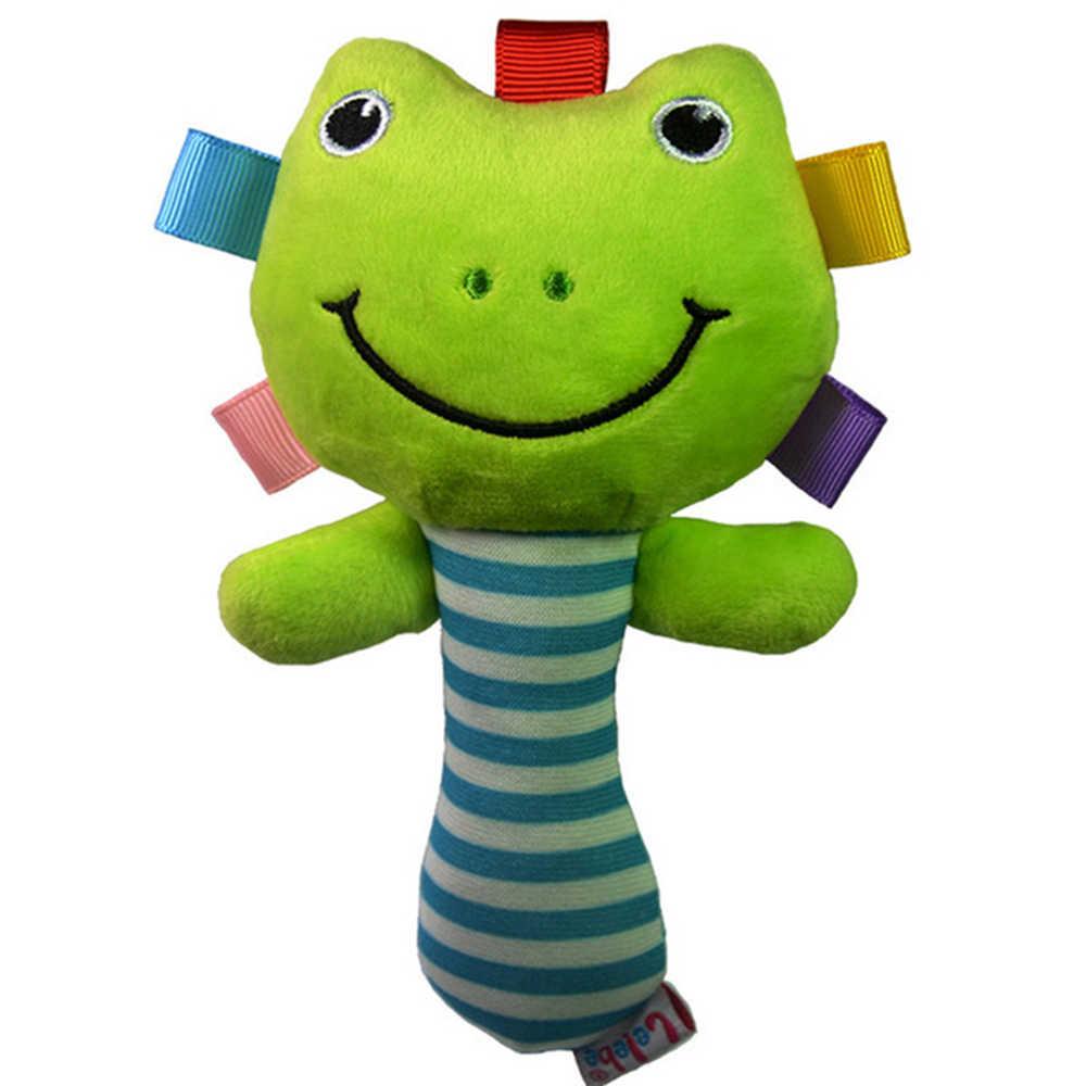 1x crianças brinquedos de pelúcia colorido animal pendurado cama berço carrinho apaziguar boneca chocalho agarrar brinquedo presente infantil brinquedos