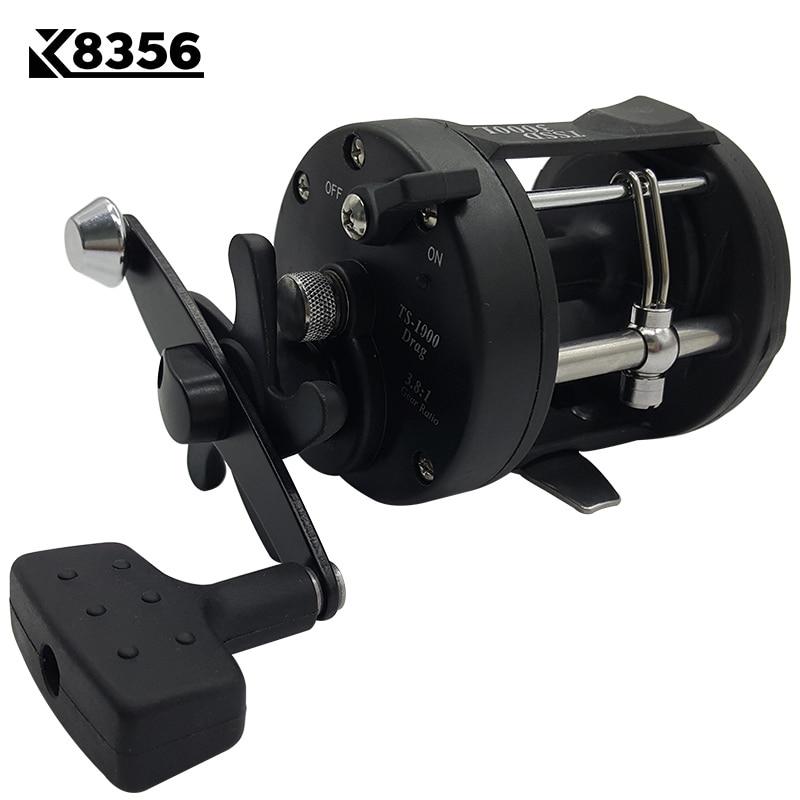 K8356 3.8:1 1BB Trolling Reel Fishing TSSD 3000L/4000L Black Right Hand Casting Sea Fishing Reel Saltwater Baitcasting Reel Coil стоимость