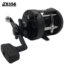 K8356 3.8:1 1BB Trolling Reel Fishing TSSD 3000L/4000L Black Right Hand Casting Sea Fishing Reel Saltwater Baitcasting Reel Coil