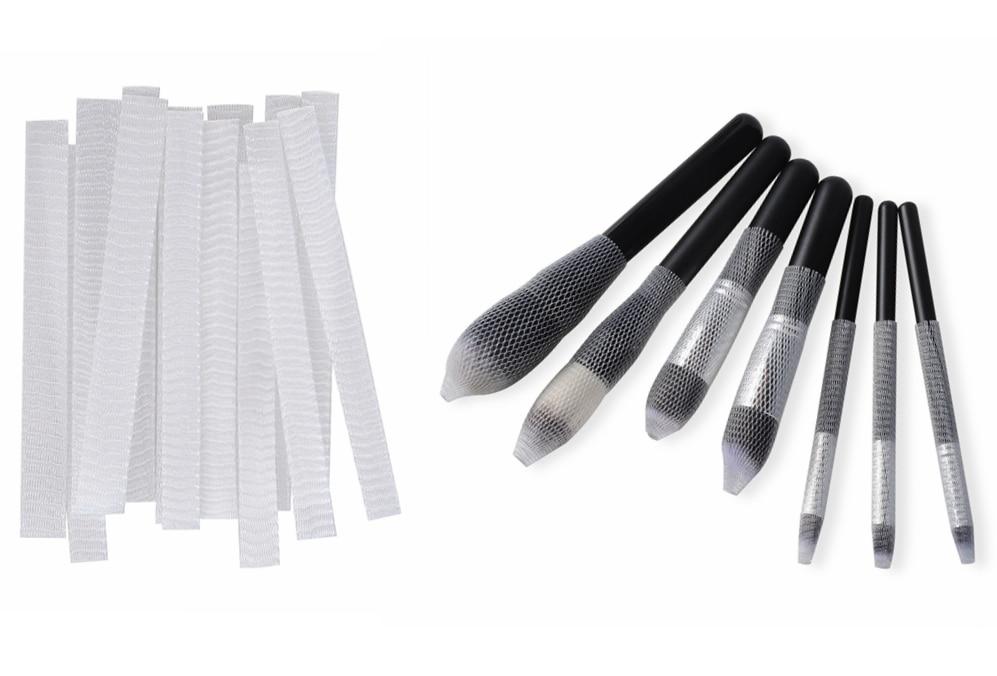 CLOTHOBEAUTY 30 pcs makeup brushes pen guard protector set reusable expandable mesh cover(Not include Brushes)