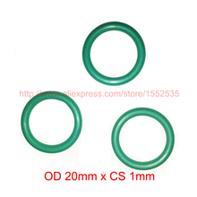 OD 20mm x CS 1mm viton fkm high temperature o ring oring o-ring cord oil sealing rubber hardness IRHD 70