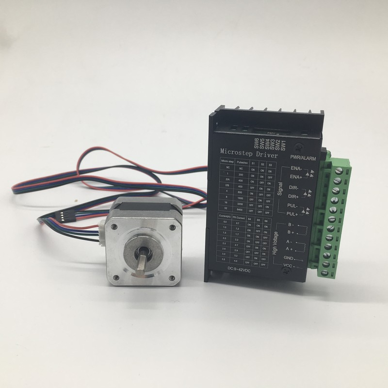 Free shipping Nema17 Stepper Motor driver kit 1.3A 28Ncm 40Oz-in 4-Lead For 3D printer CNC Reprap Rostock With 1M Dupont lineFree shipping Nema17 Stepper Motor driver kit 1.3A 28Ncm 40Oz-in 4-Lead For 3D printer CNC Reprap Rostock With 1M Dupont line