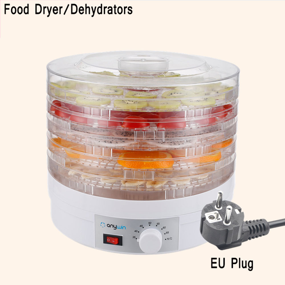 5 Layers Food Dehydrator Fruit Vegetable Herb Meat Drying Machine 250W Food Dryer Fruit Dehydrator EU/UK/US Plug Available shanghai kuaiqin kq 5 multifunctional shoes dryer w deodorization sterilization drying warmth