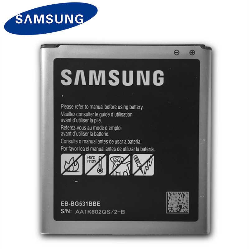 D'origine Samsung Téléphone Batterie EB-BG530CBU EB-BG530CBE 2600mAh Pour Galaxy Grand Prime J3 2016 EB-BG531BBE G530 G531F G530H G530F