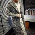 Otoño Invierno Mens Cardigans Jerseys Nueva Moda de Gran Tamaño Larga Floja Sueter Jumpers Hombres Encapuchados Suéter de Punto Jersey Sudaderas