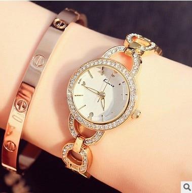 KIMIO Luxury Brand Women Watches Fashion Chain Women's Bracelet Watches Quartz Watch Ladies Trendy Relogio Feminino Clock Femme
